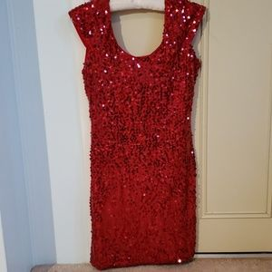 Gorgeous brand new red sequin party dress